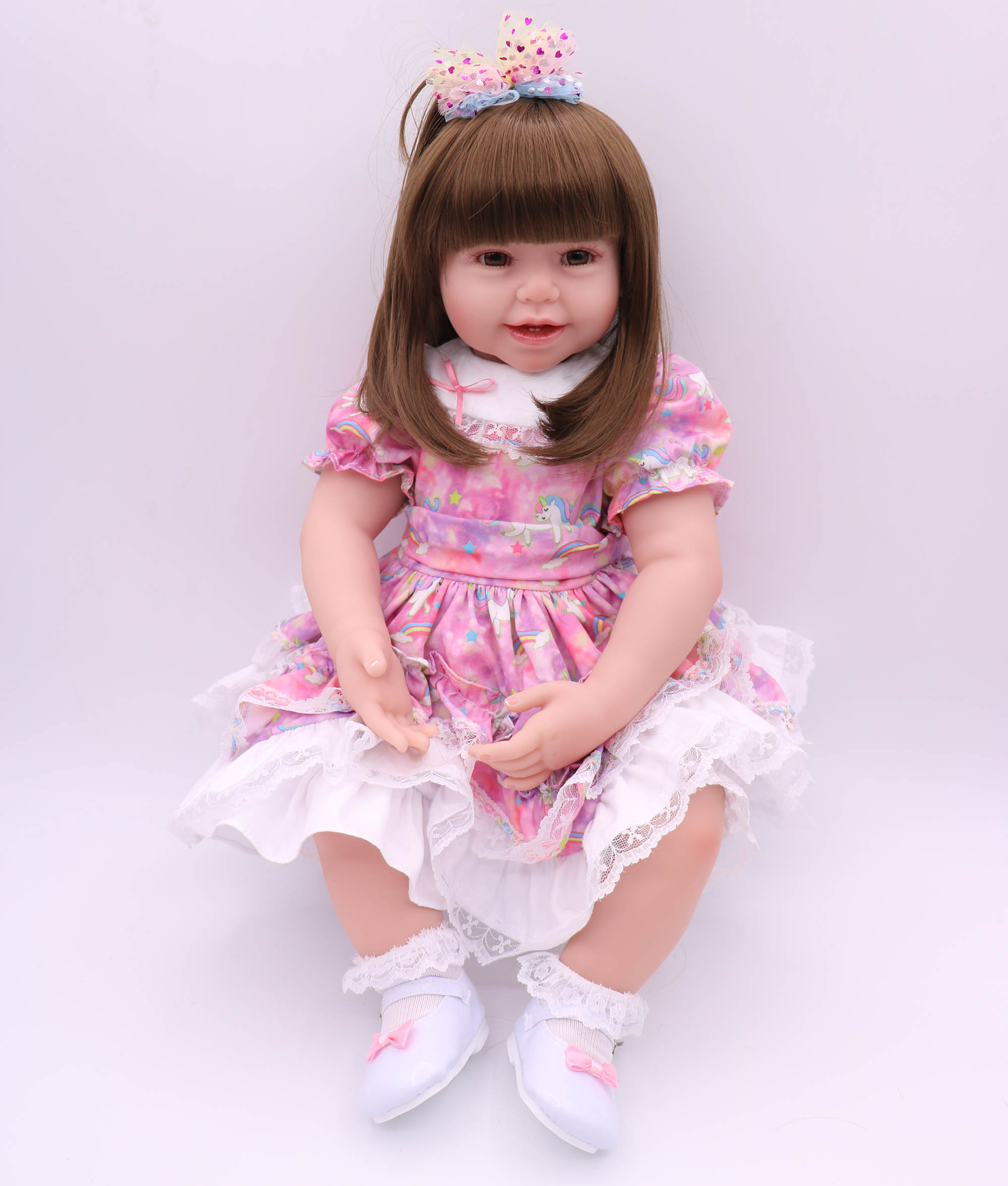 61cm simulation bebe reborn princess doll children's best companionship to send birthday Christmas gifts the best choice