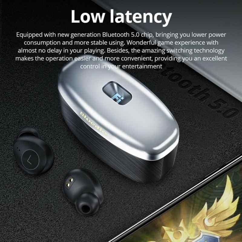 Bluedio Fi-auricular TWS, inalámbrico verdadero por Bluetooth, auriculares intrauditivos estéreo HIFI a prueba de agua con micrófono, batería externa IPX4 650mAh