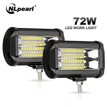 цена на Nlpearl 5inch 72W Spot Light Bar/Work Light Strobe Light Bar Flashing LED Work Light for Offroad Truck Tractor 4x4 SUV Jeep ATV