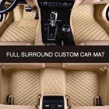 Hlfntf surround completo personalizado tapete de assoalho do carro para toyota camry 2007 2008 2009 corolla 2011 land cruiser prado 120 prius