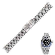 20mm החלפת נירוסטה שעון יד בנד רצועת השעון רצועת צמיד יובל עם אבזם צדפה עבור רולקס GMT Master II