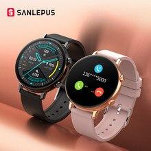 SANLEPUS ekg PPG akıllı İzle Bluetooth aramalar ile 2021 yeni erkek kadın Smartwatch kan basıncı monitörü Android Samsung Apple