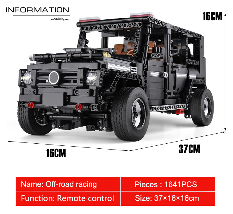 New APP RC G-Glass G500 AWD Wagon SUV Vehicle Fit Technic MOC 2425 Motor Power Function Building Blocks Bricks Toy Kid Birthday 36