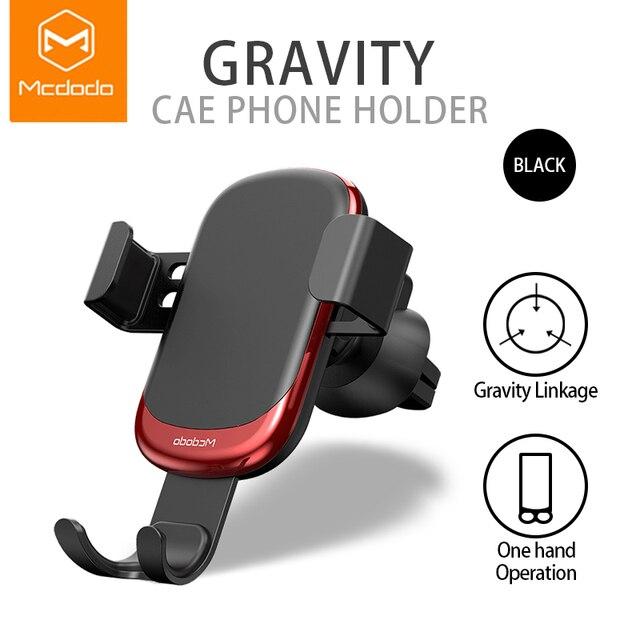 Mcdodo support universel de voiture pour téléphone portable pour iPhone X XS Max Samsung Huawei voiture évent support de montage en métal gravité support pour téléphone Mobile