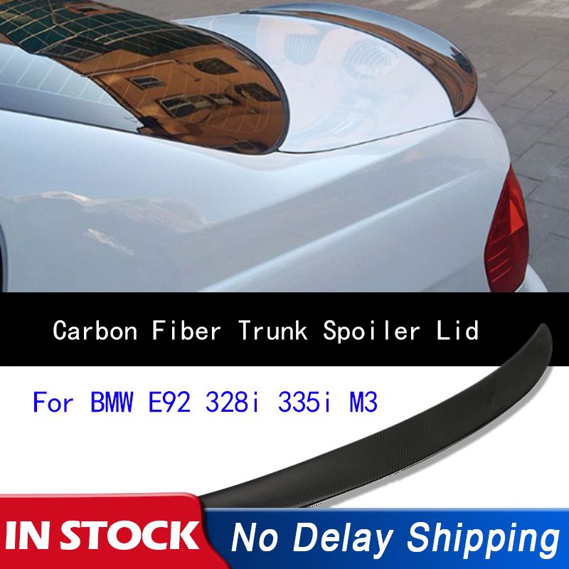 Carbon Fiber Rear Wing Carbon Fiber Rear Wing Trunk Lip Spoiler Replacement Fits For 3 Series E92 2007-2013