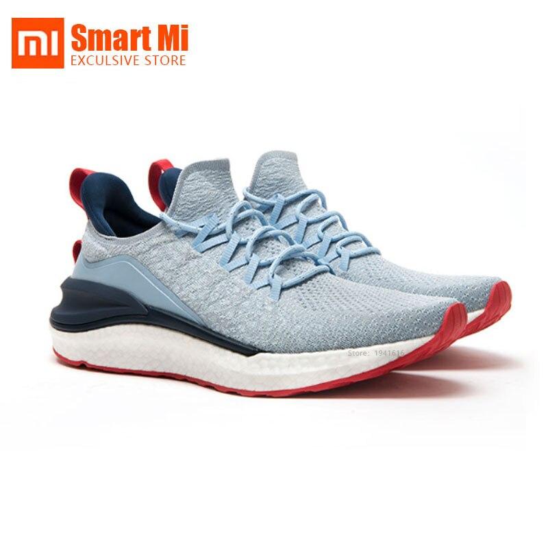 Original Xiaomi Mi Mijia Sports Shoes Sneaker 4 Outdoor Men Running Walking Lightweight Comfortable 5 In 1 Uni-moulding