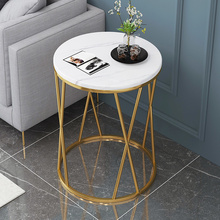 Furniture Corner-Table Table-Side-Tables Nordic-Light Marble-Pattern Bedroom Round Small
