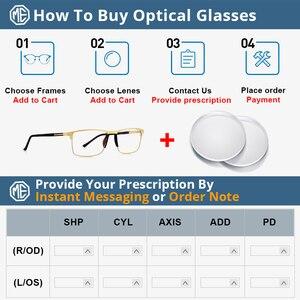 Image 5 - Merrys 남자 광장 초경량 티타늄 합금 광학 안경 프레임 남성 눈 근시 처방 안경 TR90 코 패드 S2036
