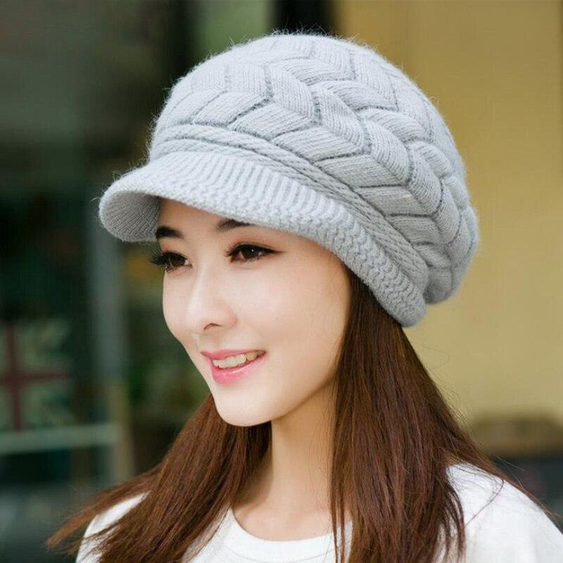Женские вязаные шапки GAOKE Skullies, вязаные шапки-шарфики, зимние шапки для женщин, одноцветные шапки-Балаклавы, Женская Шапка-бини