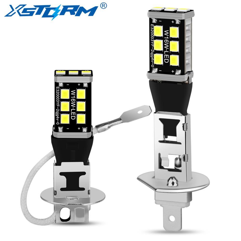2 шт., суперъярсветодиодный Автомобильные светодиодные лампы H1 H3 15SMD 2835 6000 К 12 В