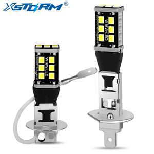 2Pcs Super Bright H1 H3 LED Bulb 15SMD 2835 Car Fog Lights 6000K White Driving Running Lamp Automobiles 12V