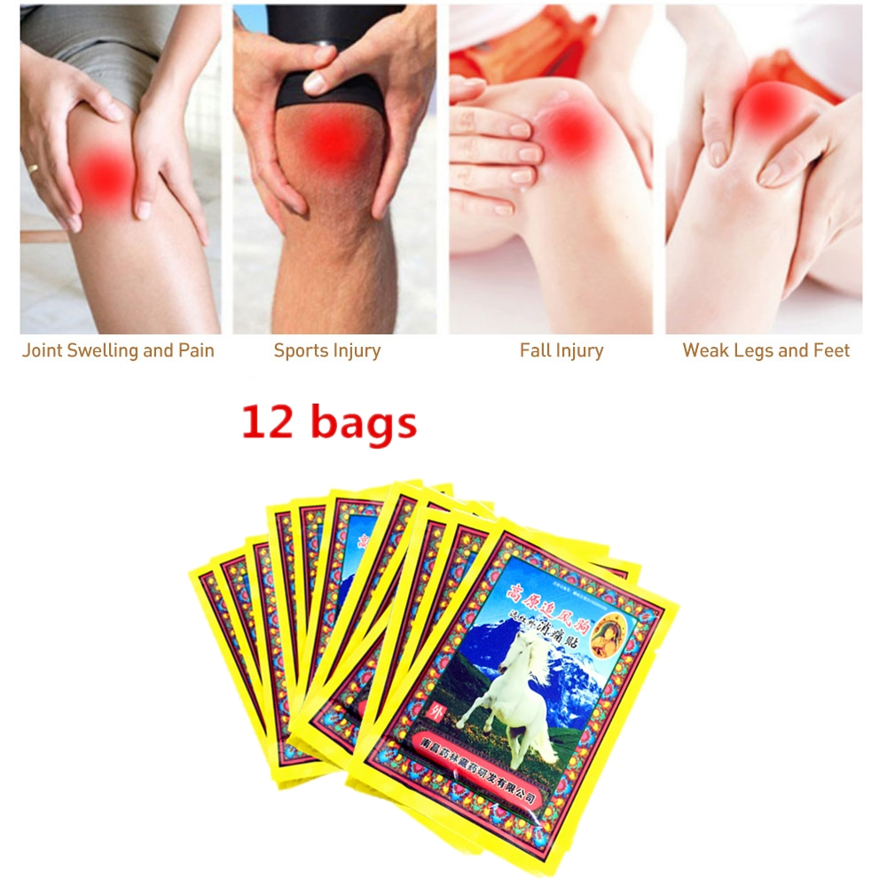 IMAGES Original Horse Bone Marrow Acesodyne Ointment Pain Relieving Patch Body Massagem Essential Oil Medical Tiger Balm 12PCS