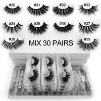 Wholesale 3D lashes 20/30/40/50/100 pairs soft fluffy lash dramatic false eyelash extension makeup mink cilios in bulk faux cils