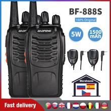 2pcs Baofeng bf-888s Walkie Talkie 6KM Portable Two Way Radio bf888S UHF 400-470MHz Handheld Ham CB Radio 888S FM Transceiver
