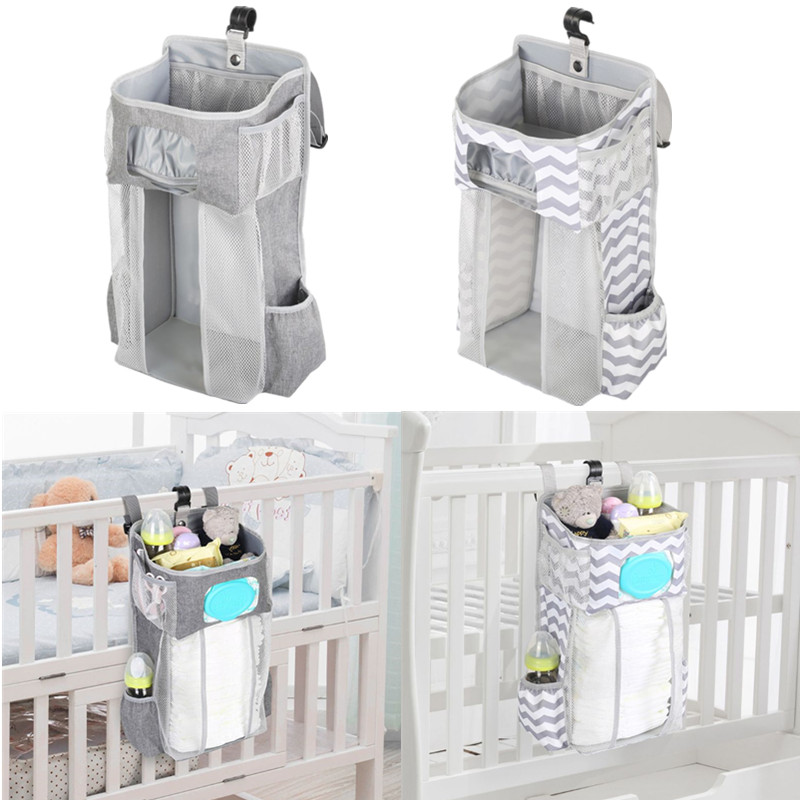 Diaper Stacker Hanging Diaper Storage Bags Nursery Organizer for Changing Table Crib or Wall Baby Shower Gifts