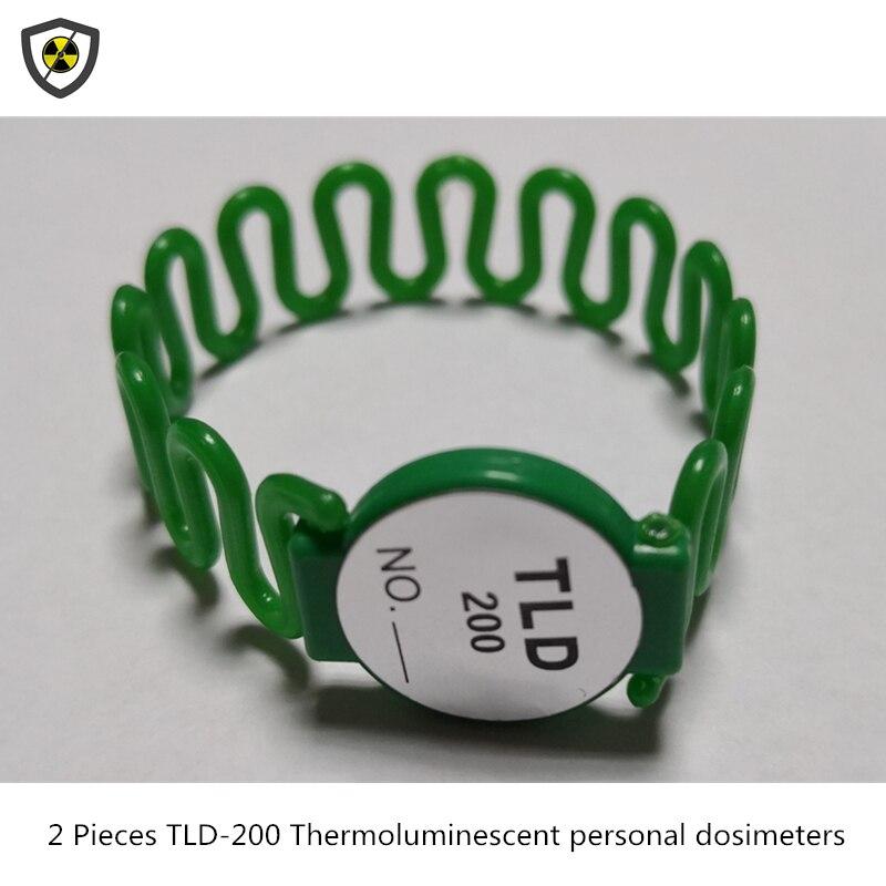 2 sztuk TLD-200 thermoluminescent ręcznie pierścień typu dozymetry chirurgii interwencyjnej skorzystaj z promieniowanie radioaktywne monitorowania karty