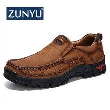 ZUNYU/Новинка; лоферы из натуральной кожи; мужские мокасины; кроссовки на плоской подошве; высококачественная повседневная мужская обувь; Мужская обувь; водонепроницаемые мокасины; размеры 38-48