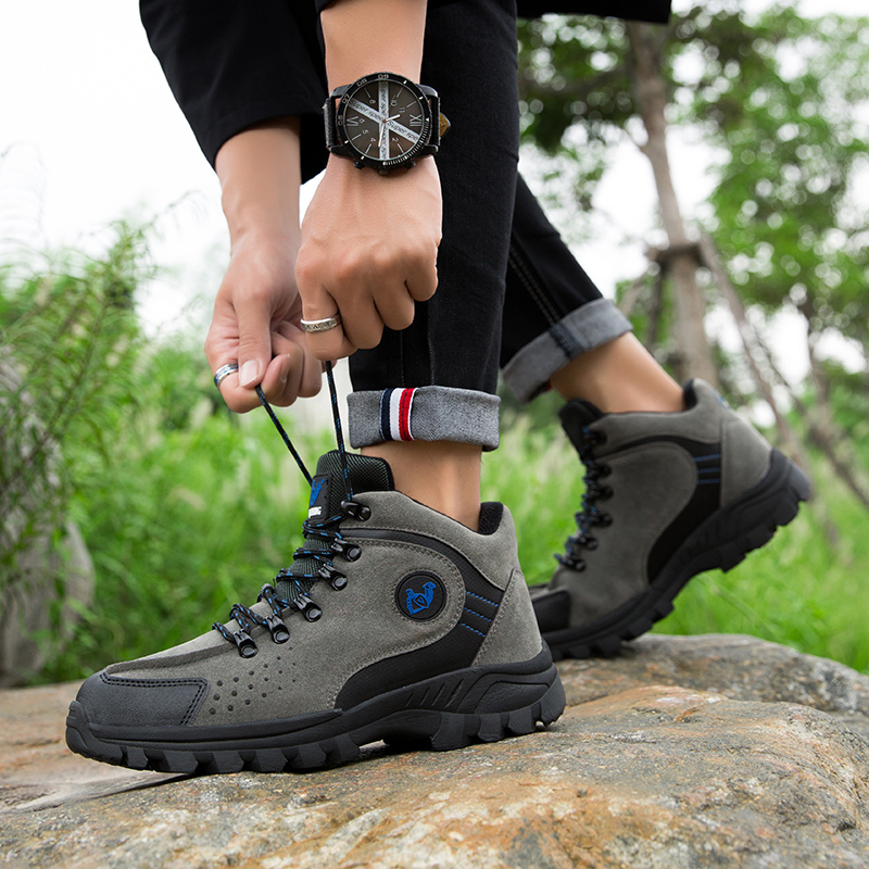 Professional Outdoor Hiking Shoes Genuine Leather Trekking Mountain Sneakers Waterproof Camping Hunting Boots Men Shoes Big Size
