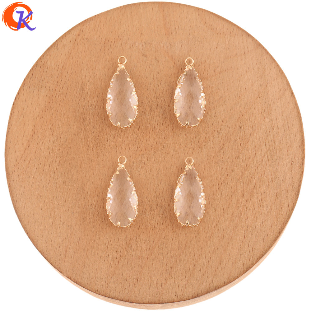 Cordial Design 40Pcs 10*24MM Jewelry Accessories/Hand Made/DIY Earring Making/Pendant/Drop Shape/Crystal Charms/Earring Findings