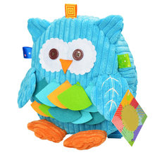 Girls Boys Zipper Children Large Capacity Lint Cute Baby Cartoon Owl Kids Backpack Snack Bag School Animals Adjustable Strap(China)