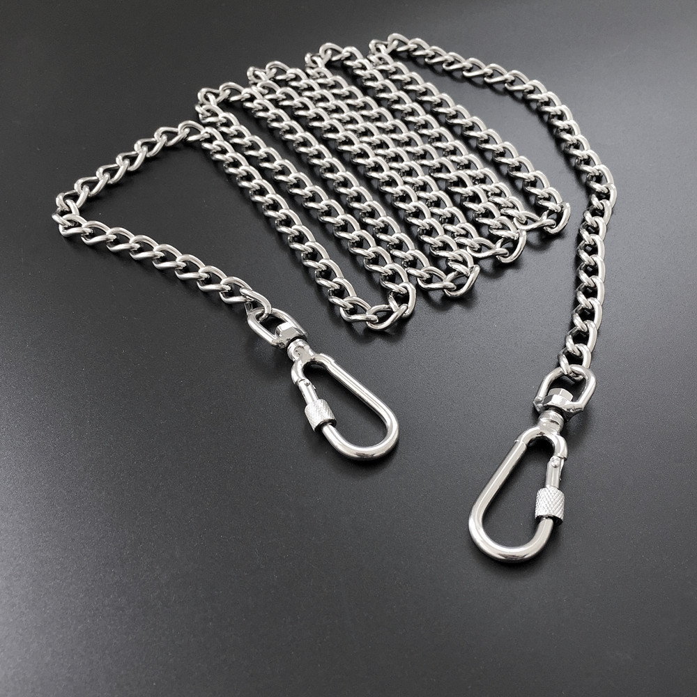 Stainless Steel Dog Hand Holding Rope Golden Retriever Dog Chain Double Curb Chain Iron Chain Small Medium Large Dog Suppository