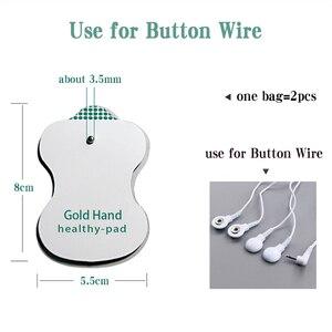 Image 5 - Almohadillas de electrodos 10/20 piezas, almohadilla de gel conductivo tens, masajeador de terapia de acupuntura corporal, pegatina de estimulador eléctrico de pulso terapéutico