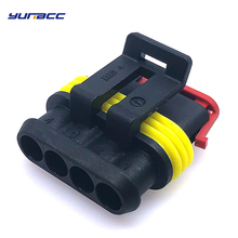 5sets 4pins AMP Super seal connector electronic pump harness plug 282088-1 for Sealed Electrical fuel Tyco