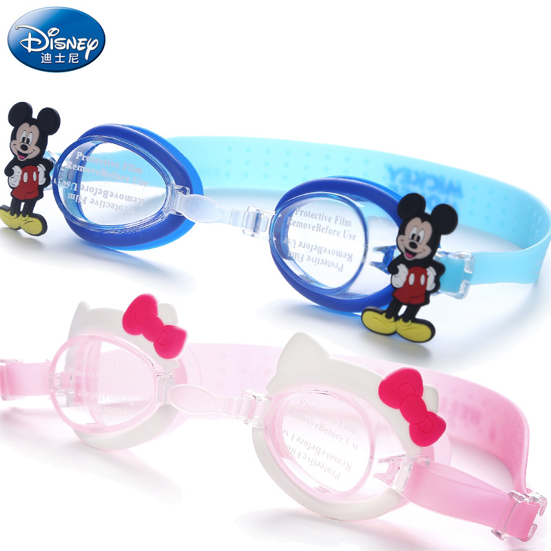 Disney Children Swimming Glasses Girls High-definition Anti-fog Waterproof Goggles BOY'S Kids Spider-Man