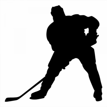 18x18cm Ice hockey Sportman Boy Stickers athlete Lover Vinyl Car Decals For Car Knob Design Removable CL323 image