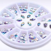DIY Nail Art Fashion Mixed Color Nail Stone AB Color Rhinestone Irregular Beads Manicur