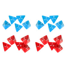 Pacote de 20 acrílico multi-face dados d4 d & d rpg cup jogo polyhedral conjunto de dados azul vermelho