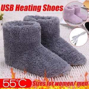 Shoes Snow-Boots Electric-Heating-Shoes Winter Foot-Warmer Usb-Battery Washable Soft