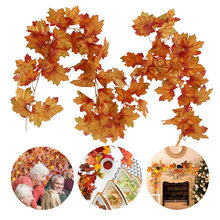 Искусственные осенние кленовые листья висячая гирлянда растения