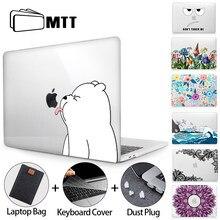 Mtt corte caso dos desenhos animados para macbook ar pro 11 12 13 15 16 barra de toque cristal capa dura para macbook pro 13 funda a2289 a2338 a2337