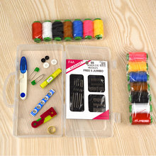 Sewing Box Set Household Large Thread Roll Portable Scissors Thimble Threader Mini Toosl Multi-function Kit E