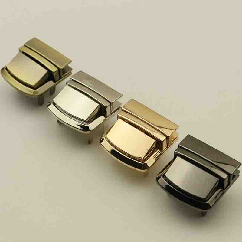 Metal Lock Buckle Rectangle Bag Case Buckle Clasp For Handbags Shoulder Bags Purse Tote Accessories DIY Silver Gold  Bags Buckle