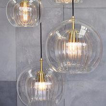 Lampe LED suspendue en verre au design nordique, Luminaire décoratif d'intérieur, idéal pour une salle à manger, une cuisine ou un salon