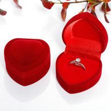 ГОРЯЧИЕ ПРОДАЖИ% 21% 21% 21 Новинка Прибытие Фестиваль Свадьба Сердце Форма Ювелирные изделия Кольцо Серьги Хранение Дисплей Подарок Коробка Чехол