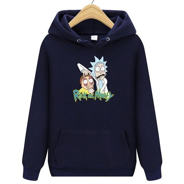 2019 New Autum Design Rick And Morty Mens Hoodies Cotton Funny Print Hoodie Man Fashion Rick Morty Casual Hoodie Sweatshirt