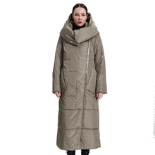 Women's Parka QUILTED-COLLAR Plumon Coats Jacket Hooded Puffer Windbreak-Quality Long