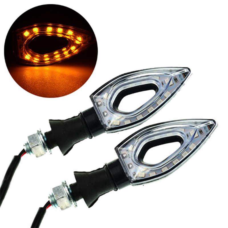 Luz de led para moto 1 peça 12, acessórios para motocicleta, amarelo redsinal de seta, luz traseira, indicadores