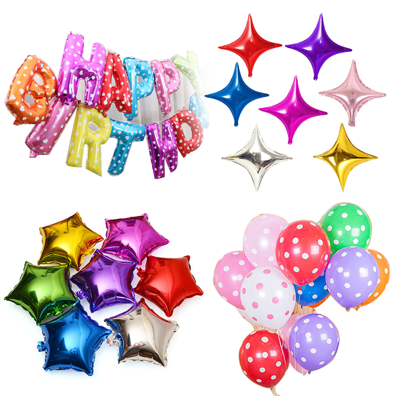"""10PCS 5/"""" Wholesale Five-pointed Star Helium Foil Balloon Party Wedding Birthday"""