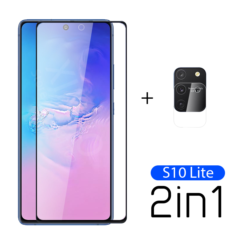 2-in-1 Tempered Glass For Samsung Galaxy S10 Lite Camera Lens Screen Protector For Samsung S 10 Lite S 10Light Glas Film 6.7