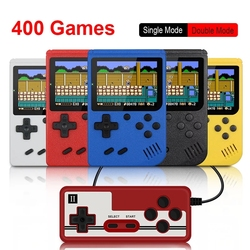 Retro Portable Mini Handheld Video Game Consoles 8-Bit 3.0 Inch Color LCD Kids Color Game Player Built-in 400 Games for Kid Gift