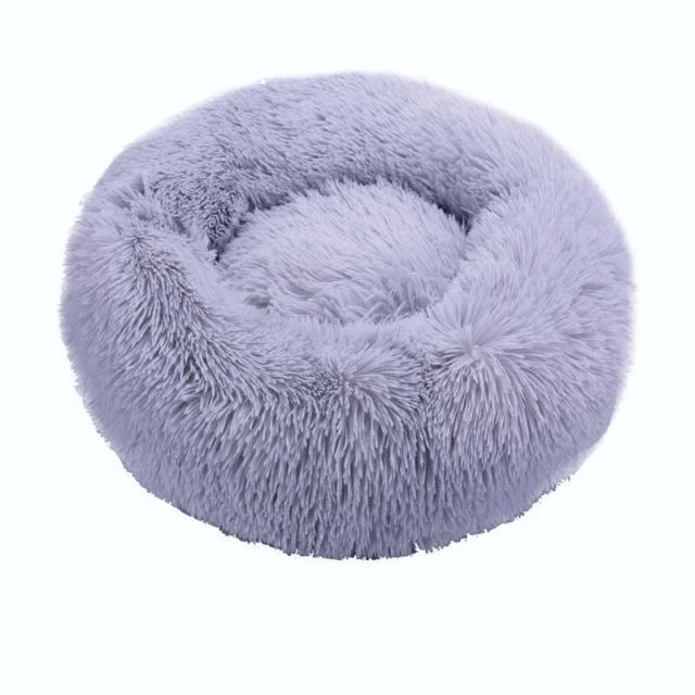 Round Cat Beds House Soft Long Plush Best Pet Dog Bed For Dogs Basket Pet Products Cushion Cat Bed Cat Mat Animals Sleeping Sofa 2