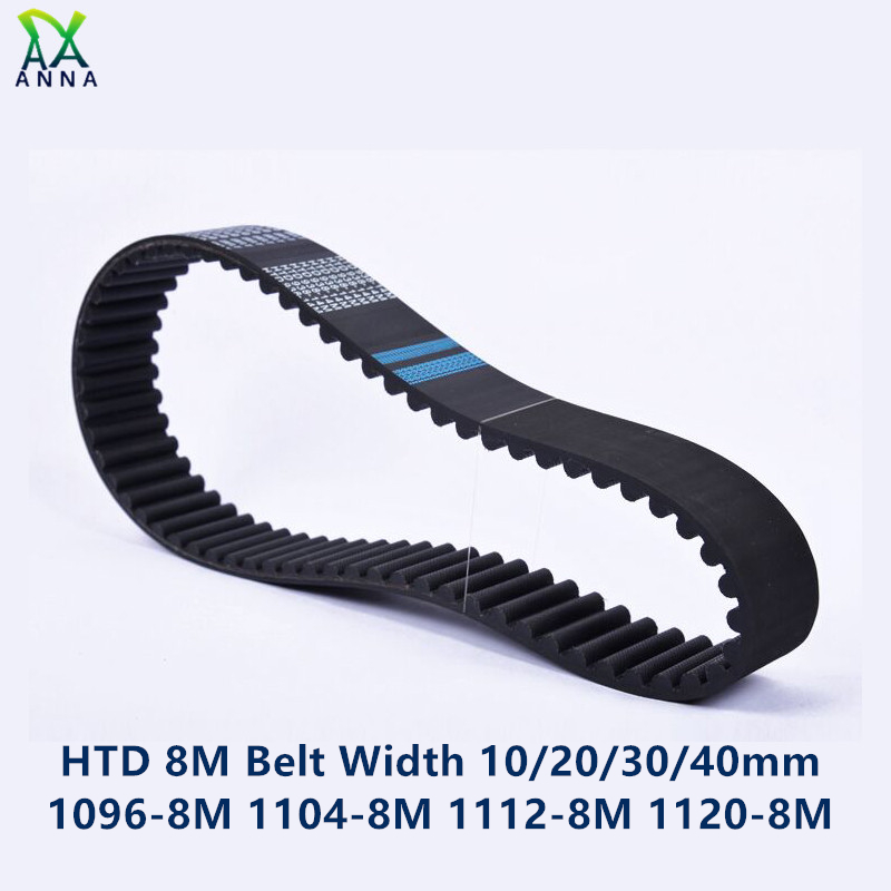 HTD 8M synchronous Timing belt C=1096/1104/1112/1120 width 20/30/40mm Teeth 137 138 139 140 HTD8M 1096-8M 1104-8 1112-8M 1120-8M