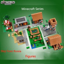 цена на Legoing Minecraft  Creator Bricks  Village Action Figures Model Building Kits Compatible Toys For Children Building Blocks gifts
