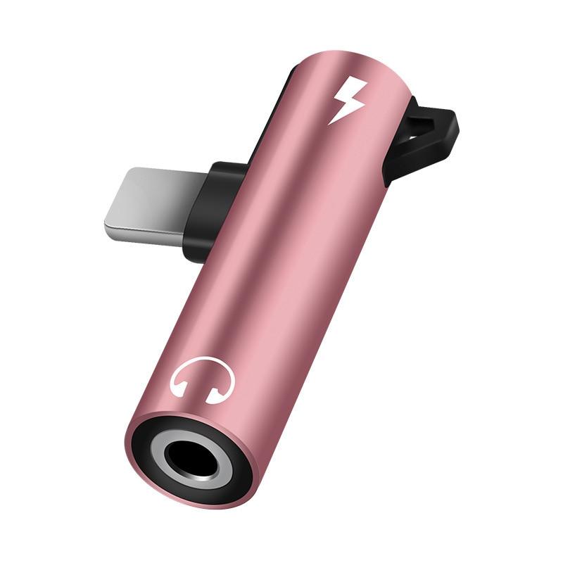 Мини металлический адаптер 2 в 1 освещение 3,5 мм разъем + 8-контактный разъем для iPhone 8 7 Plus X XS MAX XR 11 аудио зарядный конвертер