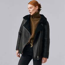 Winter Jacket Women Real Sheep Fur Jacket Winter Fenuine Sheep Leather Coat Bomber Jackets Natural Shearing Sheepskin Coat 101(China)