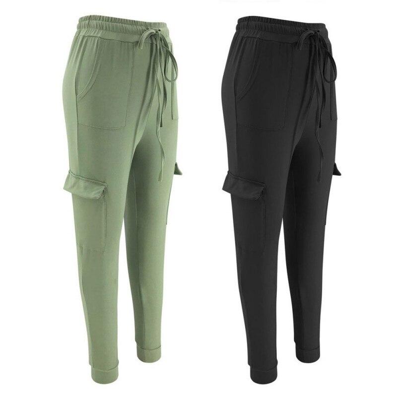 Women's Pants  For Running Yoga Workout Slim Fit Leggings Casual Sports Pants Fitness Belt Pocket  Multi-color